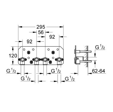 Grohe Rainshower® F-Series 15'' İç Montaj Gövdesi - 26042000