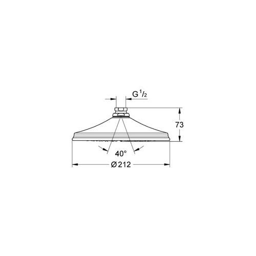 Grohe Rainshower® Retro Tepe Duşu 21 cm