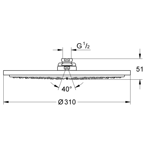 Rainshower® Cosmopolitan Tepe Duşu 31 cm