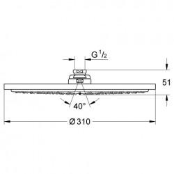 Rainshower® Cosmopolitan Tepe Duşu 31 cm - Thumbnail