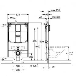 Grohe Rapid SL Gömme Rezervuar Alçıpan Tipi İnce 9,5 cm - 38994000 - Thumbnail