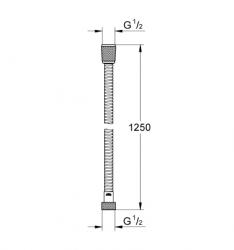 Grohe Relexa Metal Spiral Hortum 125 cm - 28142000 - Thumbnail