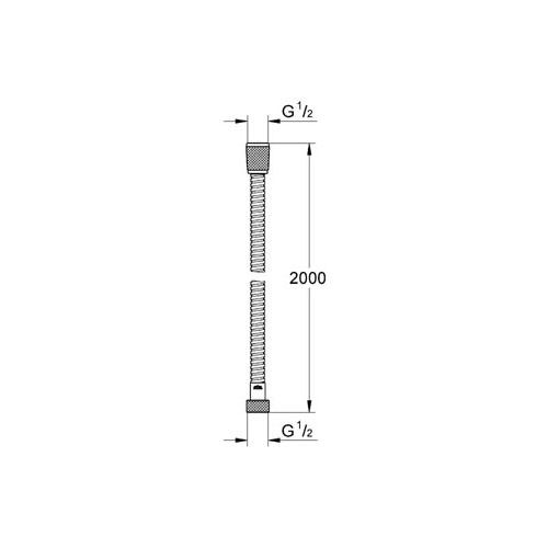 Grohe Relexa Metal Hortum 200 cm