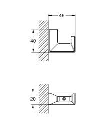 Grohe Selection Cube Bornoz Askılığı - 40782000 - Thumbnail