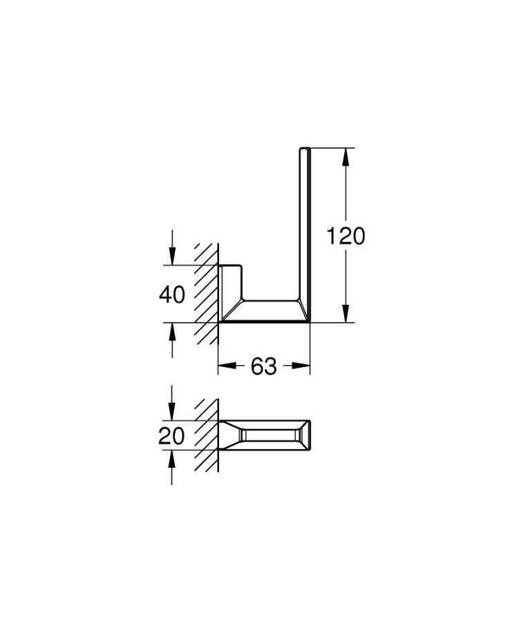 Grohe Selection Cube Yedek Tuvalet Kağıtlığı - 40784000