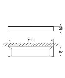 Grohe Selection Cube Halka havluluk - 40766000 - Thumbnail