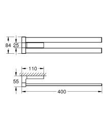 Grohe Selection Cube Havluluk - 40768000 - Thumbnail