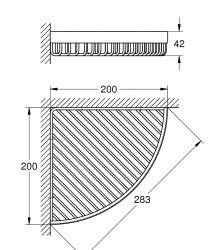 Grohe Selection Cube Köşe metal sepet, L boyut - 40809000 - Thumbnail
