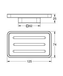 Grohe Selection Cube Sabunluk - 40806000 - Thumbnail