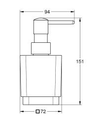 Grohe Selection Cube Sıvı Sabunluk - 40805000 - Thumbnail