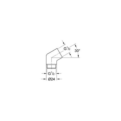 Grohe Sena El Duşu Dirsek Adaptörü - 28389000