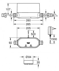 Grohe Sense Kit Akıllı Su Kontrol Cihazı + 3 X Akıllı Su Sensörü - Thumbnail