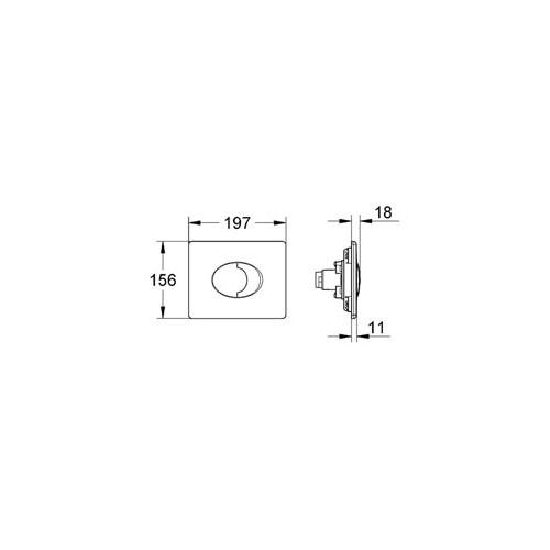 Grohe Gömme Rezervuar Kumanda Paneli Yatay ABS Beyaz - 38506SH0