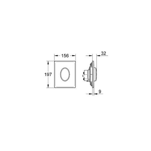 Grohe Gömme Rezervuar Kumanda Paneli ABS Krom - 38564000