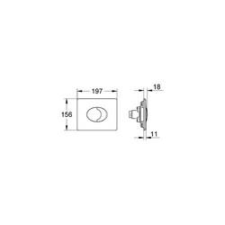 Grohe Skate Air Gömme Rezervuar Kumanda Paneli - 38506P00 - Thumbnail
