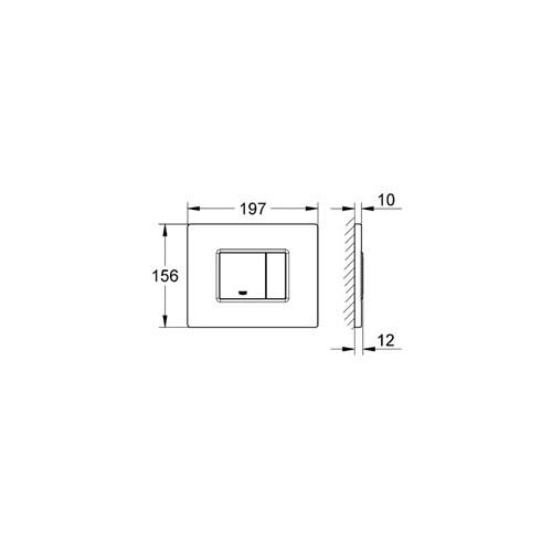 Grohe Gömme Rezervuar Kumanda Paneli Yatay Pas. Çelik - 38776SD0