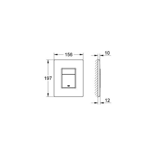 Grohe Gömme Rezervuar Kumanda Paneli ABS Krom - 38732000