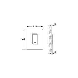 Grohe Skate Cosmopolitan Ankastre Mekanik Manuel Pisuar Sistemi Kumanda Paneli - 38846LS0 - Thumbnail