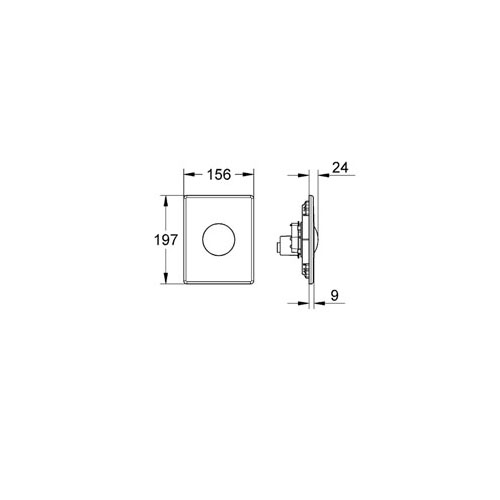 Skate Gömme Rezervuar Paneli - 38573000