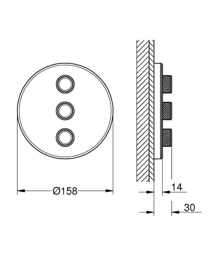 Grohe Grohtherm Smartcontrol Üç Noktadan Akış Kontrollü Kumanda - 29152LS0