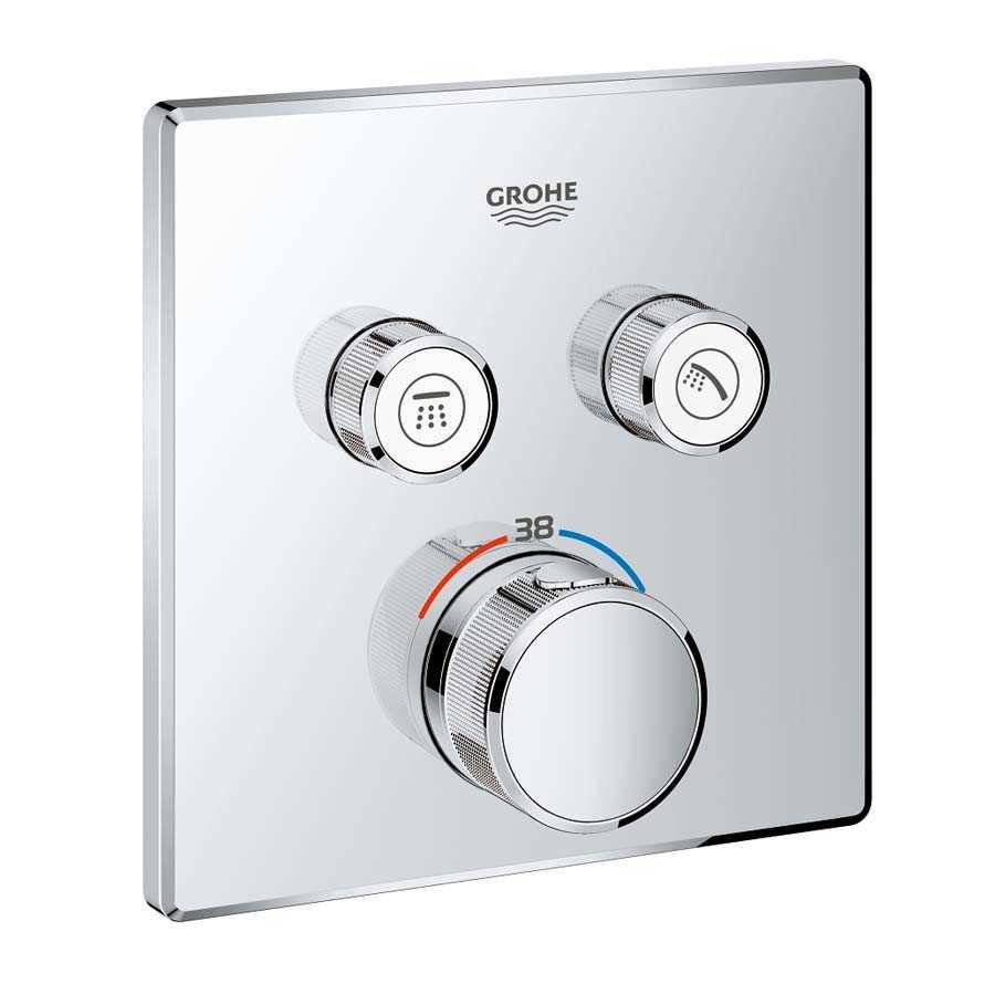Grohe Grohtherm Smartcontrol Çift Yönlü Ankastre Termostatik Duş Bataryası - 29124000