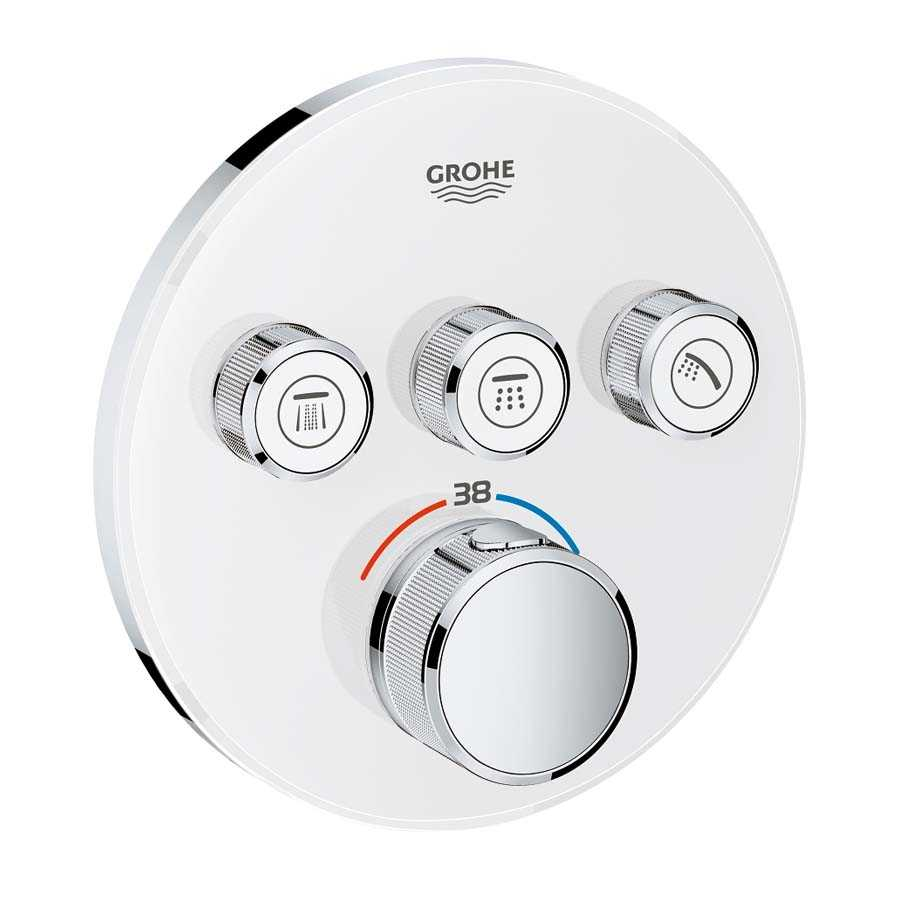 Grohe Grohtherm Smartcontrol Üç Yollu Yön Değiştiricili Ankastre Termostatik Duş Bataryası