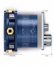 Grohe SmartControl Üç Yollu Yön Değiştiricili Ankastre Termostatik Duş Bataryası - 29121000 - Thumbnail