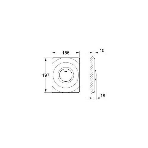 Grohe Gömme Rezervuar Kumanda Paneli Start/Stop ABS Krom-37063000