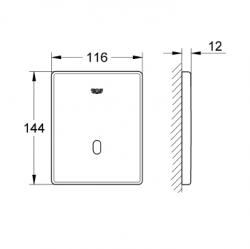 Grohe Fotoselli Ankastre Pisuar Valf Panel Elekt.P.Çelik-37321SD1 - Thumbnail