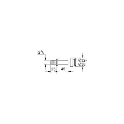GROHE - Grohe Pisuar İçin Temiz Su Giriş Adaptörü - 37044000 (1)