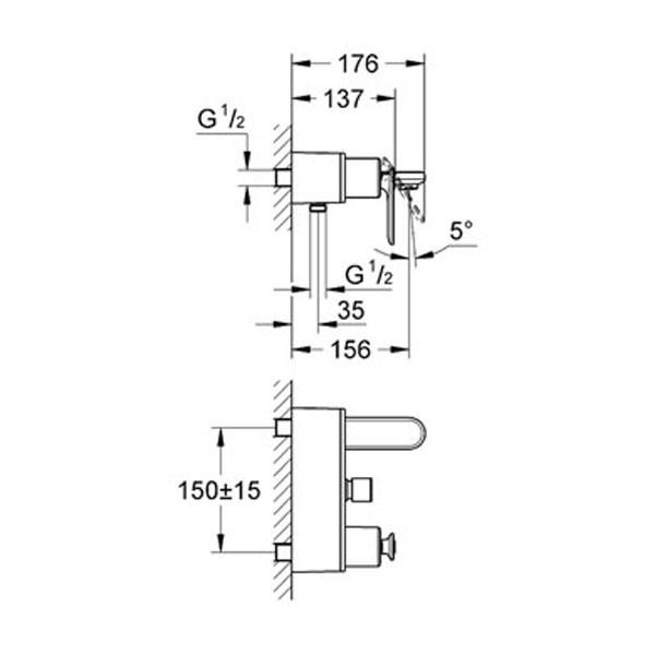Grohe Veris Tek Kumandalı Banyo Bataryası - 32195000