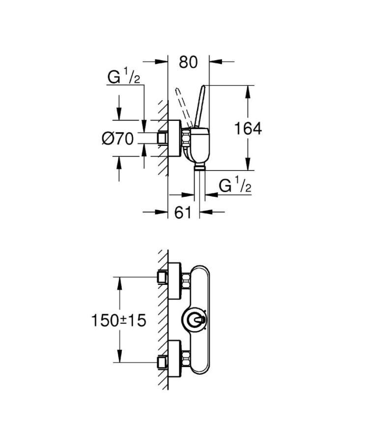 Grohe Eurodisc Joy Tek Kumandalı Duş Bataryası - 23430000