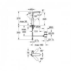 Grohe Lavabo Bataryası Veris L-Boyut Krom - 32184000 - Thumbnail