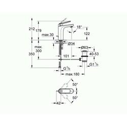 Grohe Lavabo Bataryası Veris M-Boyut Krom - 23064000 - Thumbnail